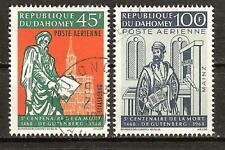 Dahomey # C69-70 Used Gutenberg Press Bible Printer