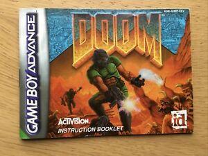 Doom Nintendo Gameboy Advance Manual Only