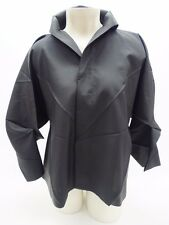 Issey Miyake 132 5. Black Origami Short Button Down Shirt Jacket Size 3 Medium