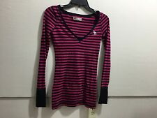 Abercrombie ladies XS striped V neck pull over top