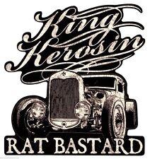 King Kerosin Rat Bastard Aufkleber/Sticker/Oldschool/Retro/Rockabilly/Hot Rod/V8