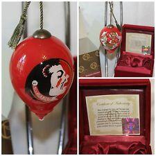 "One FSU Ne""Qwa Art Blown Glass Christmas Ornament  Florida State Seminoles"