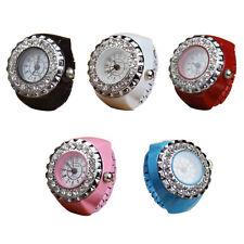 Mode Kristall Uhr Armbanduhr Finger Damen Herren Quarz Uhren Stahl elastische