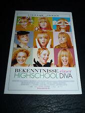 CONFESSIONS OF A HIGH SCHOOL DRAMA QUEEN, film card [Lindsay Lohan]
