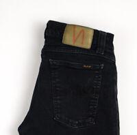 Nudie Jean Hommes Slim Jeans Extensible Taille W30 L34 ARZ905