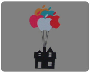 BUNCH OF APPLE BALLOONS LIFTS HOUSE INTO SKY MOUSE MAT for Mac MacBook up movie