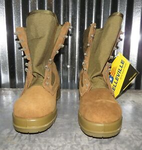 New Mens Belleville 550 ST USMC Hot Weather Steel Toe Combat Boots Size 9.5 W