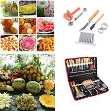 80pcs Portable Vegetable Fruit Food Wood Box Peeling Carving Tools Kit Pack LJ