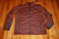 THE NORTH FACE MEN'S BROWN HEATHER FULL ZIP SOFT SHELL JACKET SIZE L