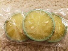 """Display food Lime Slice (pk of 3) - 3"""" Diameter"""