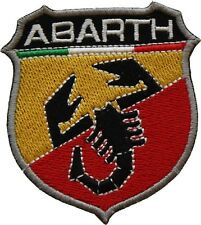 Fiat Abarth Badge Embroidered Patch Sew/Iron on 7.5cm