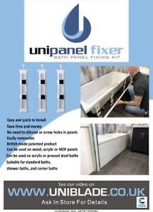 UNIPANEL FIXER - BATH PANEL FIXING KIT SET OF 3
