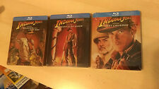 Indiana Jones Trilogy 3x Blu-ray Steelbook SET UK Zavvi | NEW Raiders Temple Ark
