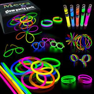 Mega Glow Sticks Party Pack Bracelets, Glasses, Bunny Ears, Ball, Flowers 463pcs