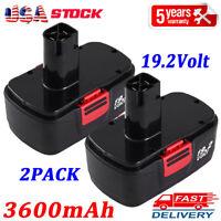 2X 3.6Ah Replace for Craftsman 19.2Volt Battery Diehard C3 11375 11376 130279005