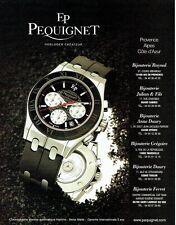 Publicité Advertising  0817  1996  montre chrono Moorea homme EP Pequignet *