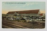 Postcard U.S. Pipe Mill Factory Westmoreland County Scottdale Pennsylvania 1914