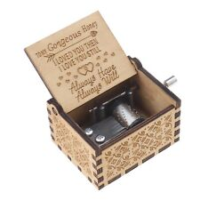 1x Musikkästchen Spieluhr Kurbel Spieluhren Dekorative Box Holz Handwerk