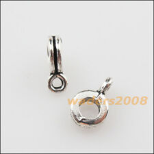 50 New Tibetan Silver Tone Tiny Charms European Bail Beads Fit Bracelet 5.5x9mm
