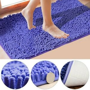 Bathroom Mat Non-Slip Rug Soft Absorbent Toilet Floor Carpet Washable Durable