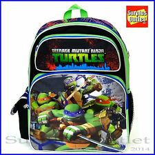 "Ninja Turtles 16"" Backpack School Book Bag"