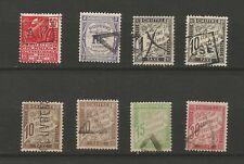 France oblitération sur 8 timbres taxes /T5862