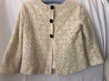 Roberto Cavalli lace ivory jacket size IT 42, US8 UK10