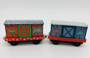 Rotating Christmas Cargo Boxcars Magnetic Thomas Friends Train Take N Play Along
