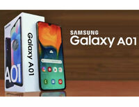 SAMSUNG Galaxy A01 (2019) Smartphone Black Brand New Unlocked & Free Case