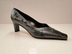 Sabrina Chic Womens Pewter Heel Court Shoes - UK 7 / EU 40 - (2259 T-P)