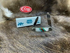 Case 2005 Blue Mountain Canoe Knife MOP - Turquoise - Coral Mint In box 63C