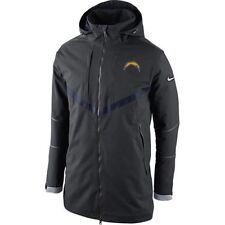 NFL San Diego Chargers Gray Nike 638953 On Field Storm Fit 550 DOWN Coat PARKA