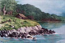 PHILIPPINES - CUARTEL in ULUGAN BAY (PALAWAN) - Lithography19th (hand-coloured)