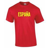 Mens ESPANA Tshirt - Retro Spanish Spain Euro Football Soccer National