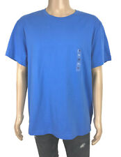 Club Room Mens Blue Cotton Crew Neck Solid T-Shirt 2XL