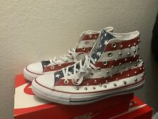 Converse Chuck Taylor CTAS Studded Americana Red White Blue 160994C Men Sz 11