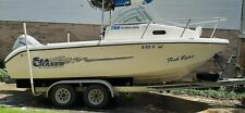 21 Foot Cuddy Cabin Salt Water Fishing Boat With Trailer