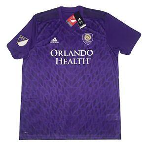 Adidas Orlando City Soccer Jersey Purple Mens XLARGE CLIMALITE 100% AUTHENTIC