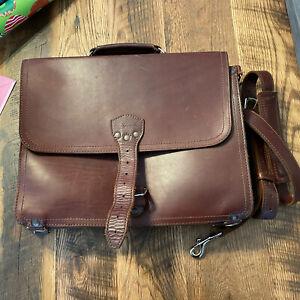 "Saddleback Leather Slim Chestnut Briefcase 15"" Brown Full Grain"