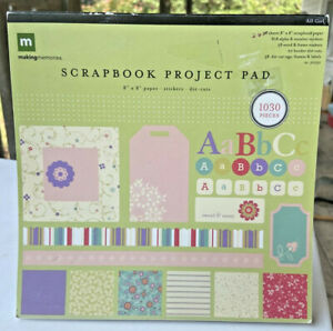 """Making Memories Scrapbook Project Paper Pad-8"""" x 8""""-38 Sheets-All Girl-Stickers"""