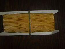 (0,40€/m) gelb Soutache/Litze, Höhe ca. 0,3cm 50m auf der Pappe DDR OPEW
