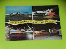 CARTE POSTALE AVION - BOURNEMOUTH ROYAL MAIL AIR SERVICES