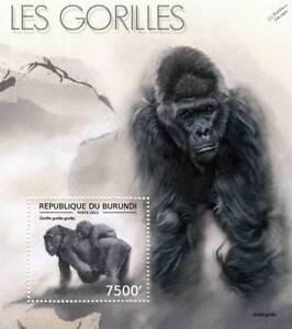Western GORILLA / Africa Wild Animal Stamp Sheet #2 of 7 (2012 Burundi)