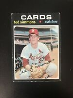 1971 TOPPS #117 TED SIMMONS HOF STL CARDS— HOT ROOKIE🔥*** (wph)