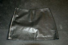 Brand New Alice and Olivia Black Leather Skirt Size 14 Large