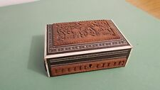VINTAGE/ ANTIQUE ANGLO INDIAN CARVED BOX