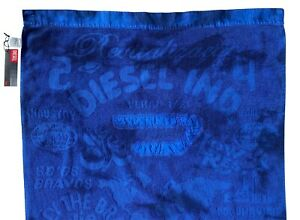 DIESEL Only The Brave ITALY Designer BEACH TOWEL Cotton BLUE Pool Surf Gym Bath