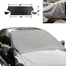 Car Truck Windshield Snow Cover Sun Shade Protector with Magnetic + Mirror Cover