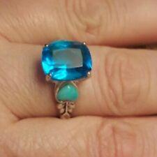"""Studio Barse Silver Overlay Bronze  Topaz Heart Ring 8 1.25"""" Dangle Earrings SET"""