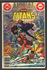 New listing The New Teen Titans Annual #1 Dc 1982 Omega Men Blackfire